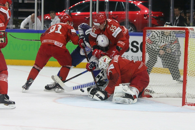 Photo hockey Championnats du monde -  : France (FRA) vs Biélorussie (BLR) - Les Bleus n