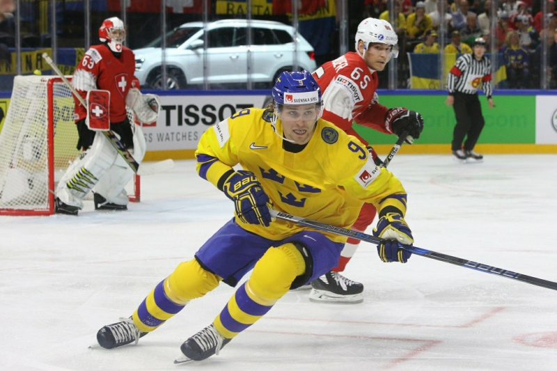 Photo hockey Championnats du monde -  : Suisse (SUI) vs Suède (SWE) - La Suisse se prive presque de quarts
