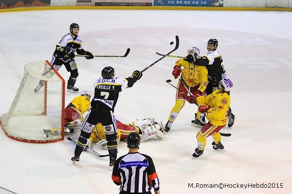 Photo hockey Coupe de la Ligue ARCHIVES - Coupe de la Ligue : 1/2 finale, aller : Rouen vs Dijon  - CDL : Un pas en finale
