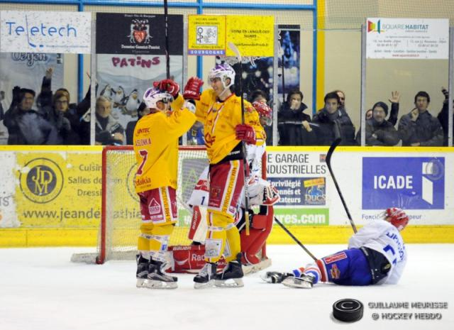 Photo hockey Coupe de la Ligue ARCHIVES - Coupe de la Ligue : 1/4 de finale, retour : Dijon  vs Lyon - Une demie historique