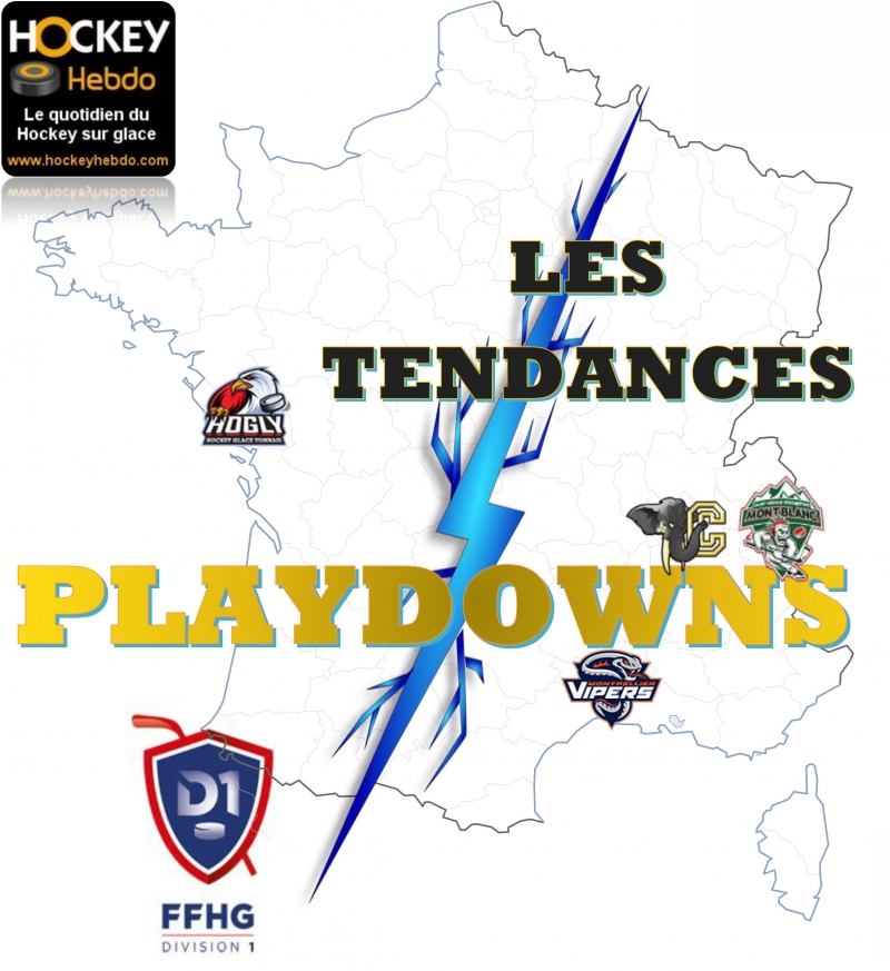 Photo hockey Division 1 - Division 1 - Division 1 - Les tendances Playdowns: 3ème Journée