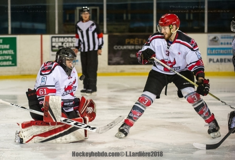 Photo hockey Division 1 - Division 1 : playoff, demi finale, match 5 : Brest  vs Neuilly/Marne - D1 :Brest en finale