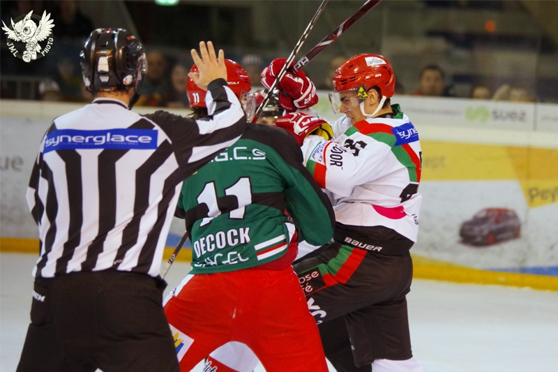 Photo hockey Division 1 - Division 1 : playoff, quart de finale, match 2 : Anglet vs Mont-Blanc - L'Hormadi breake