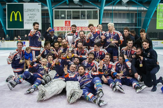 Photo hockey Division 2 - Division 2 : Play Off - Finale - Match 2 : Clermont-Ferrand vs Courchevel-Méribel-Pralognan - Champion Clermont