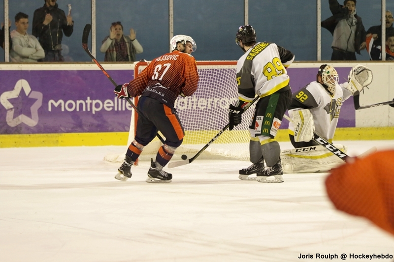 Photo hockey Division 2 - Division 2 : playoff, Finale, match 1 : Montpellier  vs Chambéry - Finale D2, match 1.
