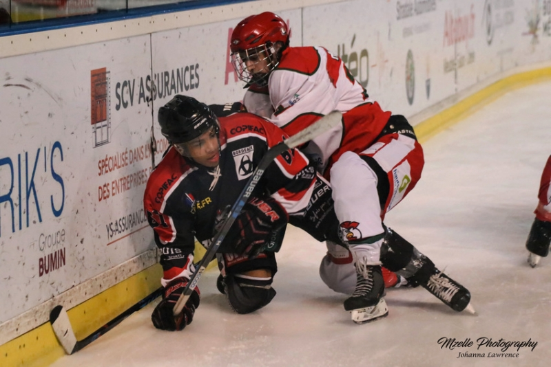 Photo hockey Division 3 - Division 3 : Play Off 1/8 de finale - Retour : Bordeaux II vs Courbevoie  - Des Coqs impitoyables !
