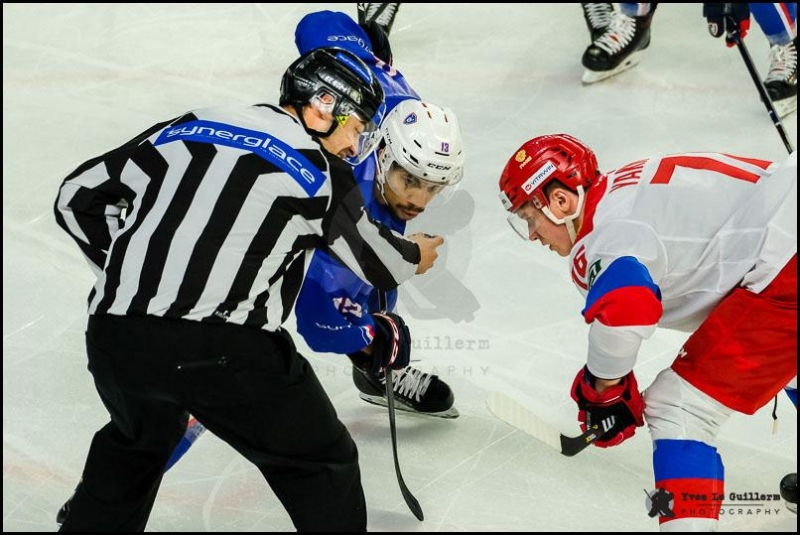 Photo hockey Equipes de France -  : France (FRA) vs Russie (RUS) - La France n