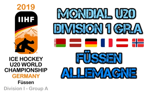 Photo hockey Equipes de France - Equipes de France - Mondial U20 D1 Groupe A - 4e journée