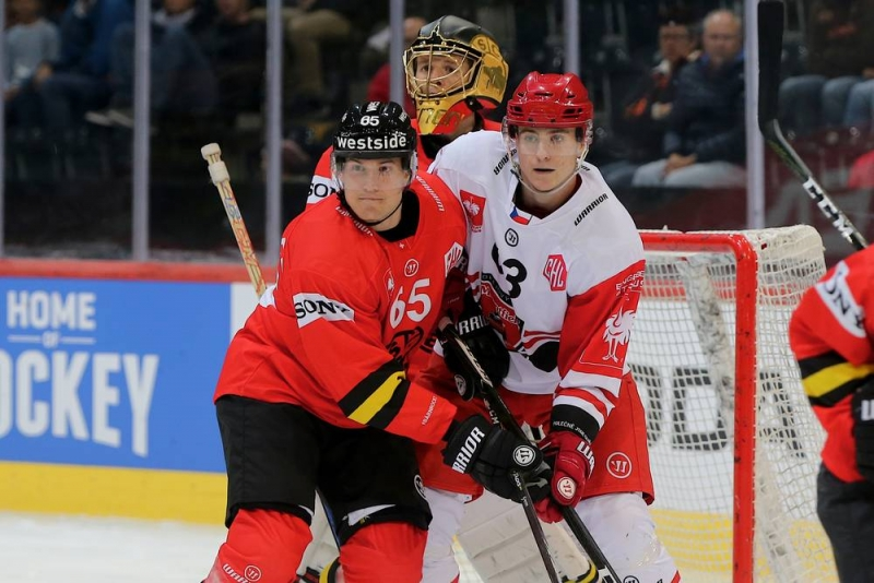 Photo hockey Europe : Continental Cup - CHL -  : Bern vs Hradec Králové - CHL: Berne à nouveau dans l