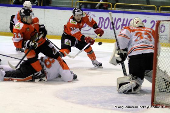 Photo hockey Europe : Continental Cup - CHL - Europe : Continental Cup - CHL : Rouen (Les Dragons) - Continental Cup J1 Match 1 : Soligorsk tranquillement
