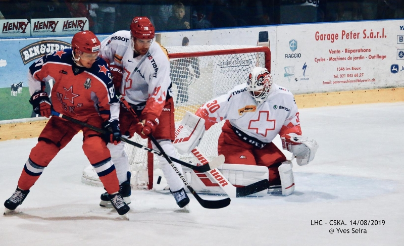Photo hockey Hockey en Europe -  : Lausanne vs CSKA Moscou - Hockeyades 2019: Moscou comme à la maison