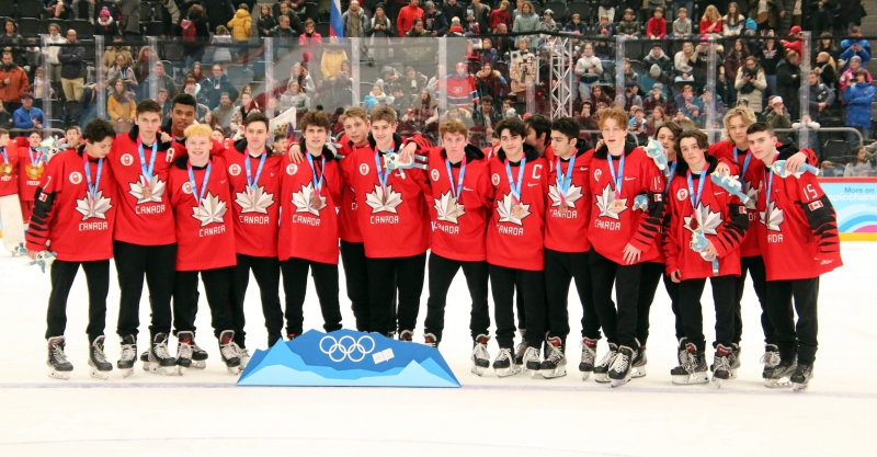 Photo hockey Jeux olympiques -  : Canada (CAN) vs Finlande (FIN) - L