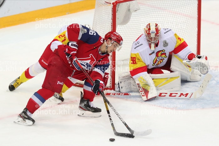 Photo hockey KHL - Kontinental Hockey League - KHL - Kontinental Hockey League - KHL : Dos au gouffre