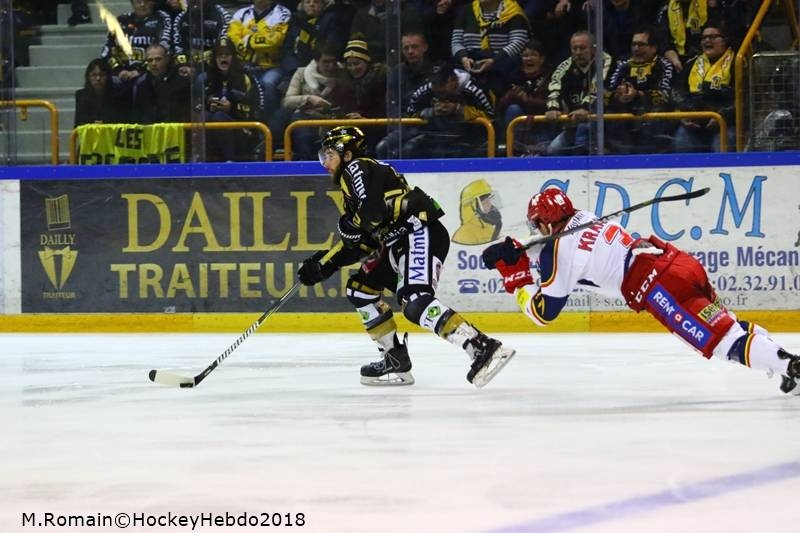 Photo hockey Ligue Magnus - Ligue Magnus : 23ème journée : Rouen vs Grenoble  - LM : Rouen gagne son duel des leaders