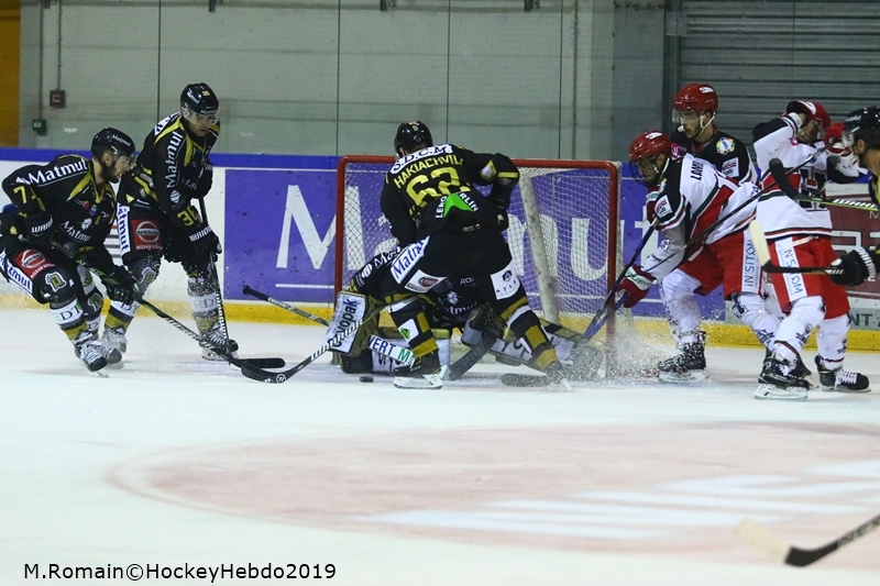 Photo hockey Ligue Magnus - Ligue Magnus : 32ème journée : Rouen vs Anglet - LM : Les Dragons au bout du suspense