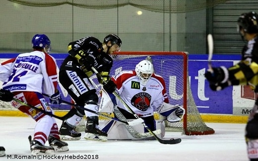 Photo hockey Ligue Magnus - Ligue Magnus : 32ème journée : Rouen vs Mulhouse - Retour de flammes