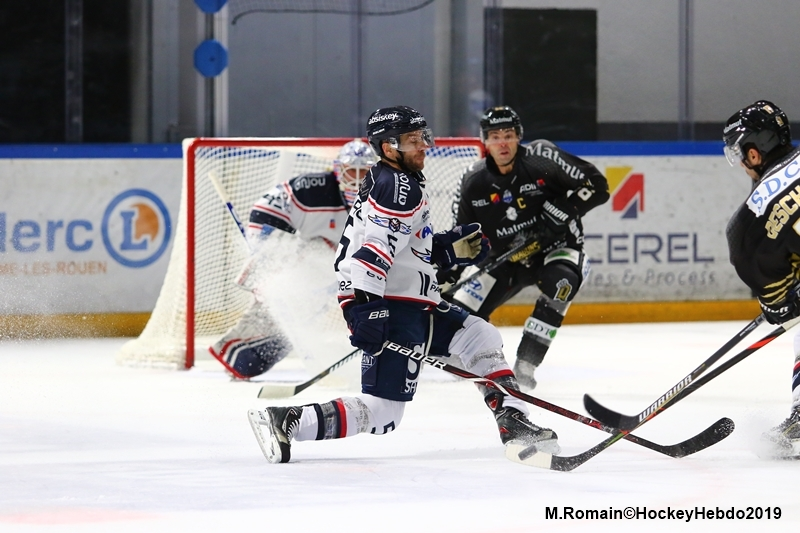 Photo hockey Ligue Magnus - Ligue Magnus : 3ème journée : Rouen vs Angers  - LM : Des dragons convainquants