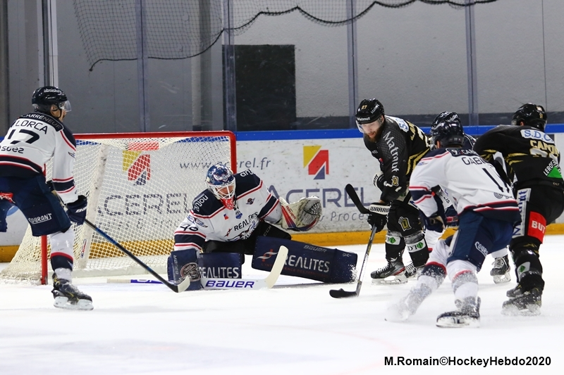 Photo hockey Ligue Magnus - Ligue Magnus : 41ème journée : Rouen vs Angers  - Les Dragons passent la seconde.
