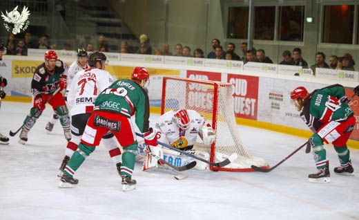 Photo hockey Ligue Magnus - Ligue Magnus : 8ème journée : Anglet vs Chamonix  - Anglet en 20 minutes