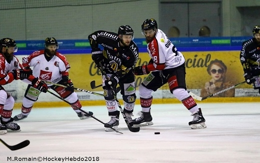 Photo hockey Ligue Magnus - Ligue Magnus : demi-finale, match 2 : Rouen vs Amiens  - Les Dragons égalisent