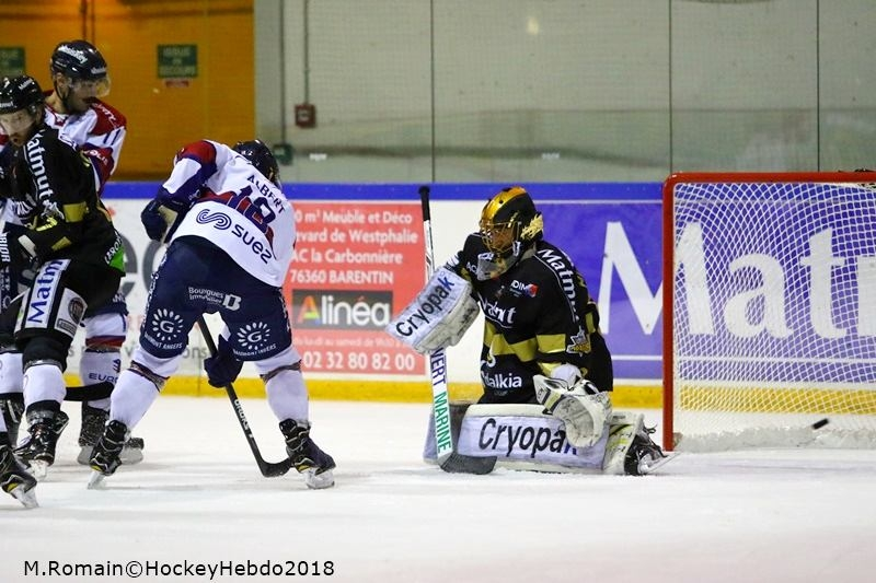 Photo hockey Ligue Magnus - Ligue Magnus : quart de finale, match 1 : Rouen vs Angers  - Rouen prend les devants.