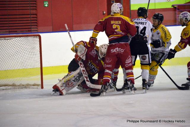 Photo hockey Ligue Magnus - Ligue Magnus 31ème journée : Dijon  vs Rouen - LM : Les Dragons reviennent de l