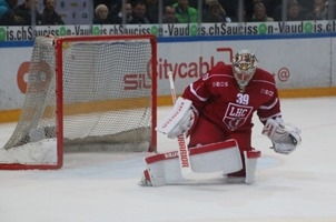 Photo hockey Suisse - National League -  : Lausanne vs Davos - Huet héroïque, mais le LHC se plante encore