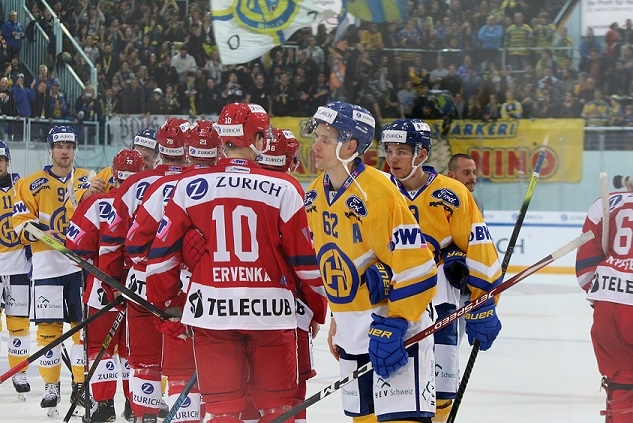 Photo hockey Suisse - Swiss Ice Hockey Cup -  : Rapperswil-Jona vs Davos - Davos en finale de Coupe
