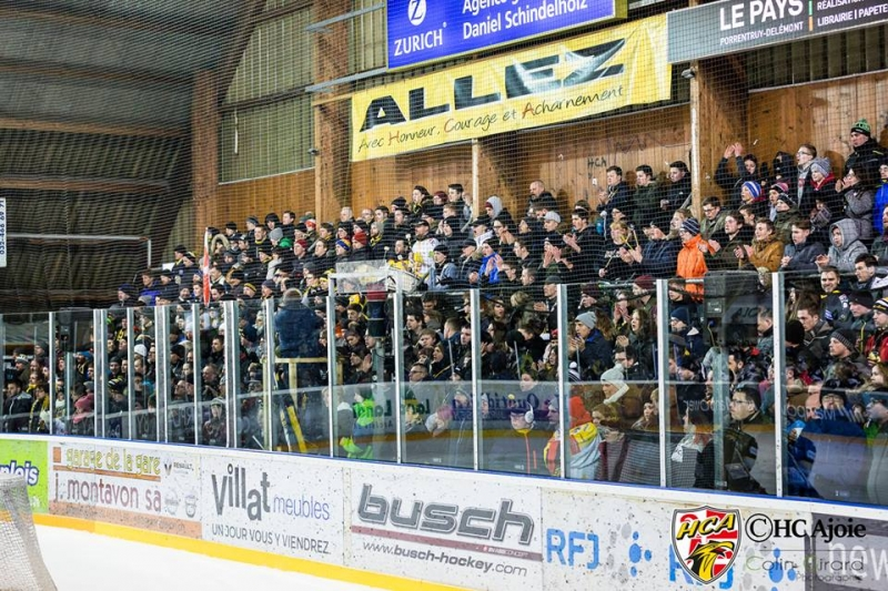Photo hockey Suisse - Swiss League -  : Ajoie vs La Chaux-de-Fonds - Dotti fait chavirer le Voyeboeuf