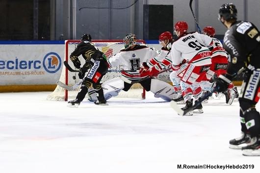 Hockey sur glace : Ligue Magnus - Ligue Magnus : 18ème journée : Rouen vs Anglet - LM : Rouen, victoire nette et sans bavures - hockeyhebdo Toute l'actualité du hockey sur glace