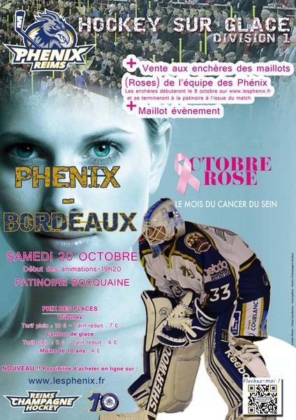 hockey sur glace octobre rose chez les ph nix division 1 reims les ph nix hockey hebdo. Black Bedroom Furniture Sets. Home Design Ideas