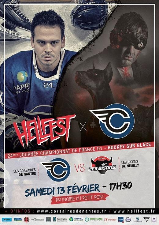 Hockey sur glace nantes neuilly marne bienvenue en enfer division 1 nantes les - Patinoire petit port horaire ...