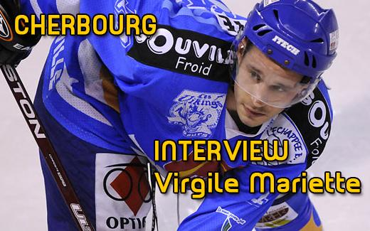 Photo hockey Cherbourg : Interview Virgile Mariette - Division 2 : Cherbourg (Les Vikings)