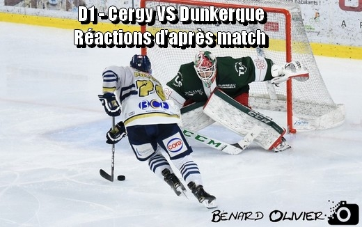 Photo hockey D1 - Cergy VS Dunkerque : Réactions d