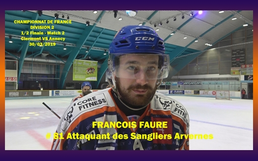Photo hockey Interview de François Faure - Division 2 : Clermont-Ferrand (Les Sangliers Arvernes)