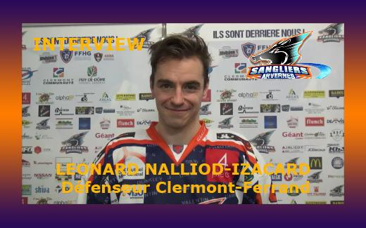 Photo hockey Interview Leonard Nalliod-Izacard - Division 1 : Clermont-Ferrand (Les Sangliers Arvernes)