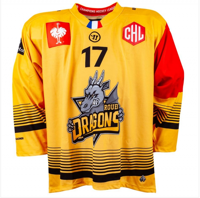 Photo hockey CHL : les maillots dévoilés - Europe : Continental Cup - CHL : Rouen (Les Dragons)