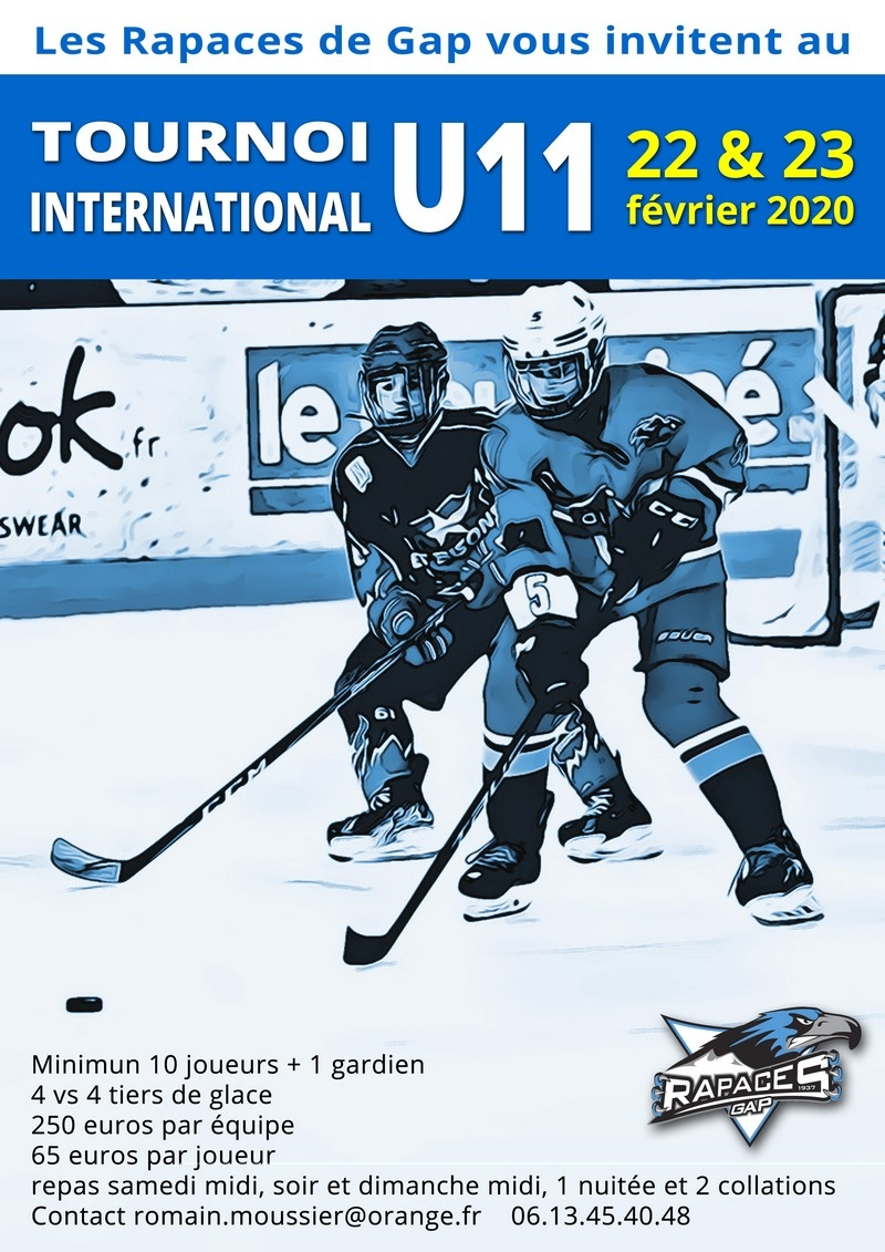 Photo hockey Gap - Tournoi U11 - Hockey Mineur : Gap  (Les Rapaces)