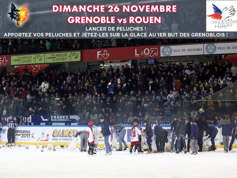 Photo hockey Grenoble: opération peluches - Ligue Magnus