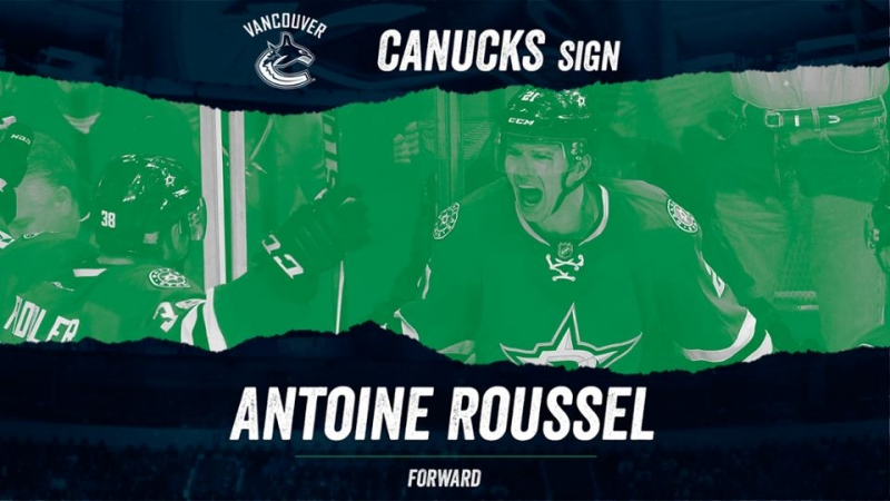Photo hockey NHL : Roussel à Vancouver - NHL - National Hockey League