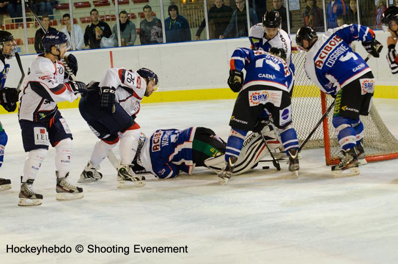 Photo hockey match Angers  - Caen