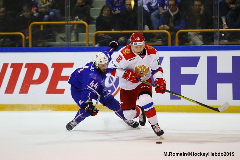 Photo hockey match France - Russia