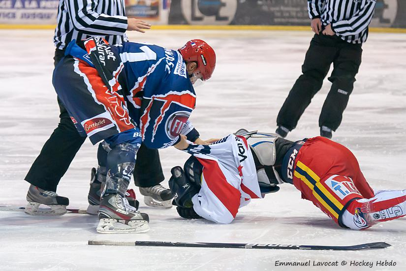 Photo hockey match Lyon - Nice