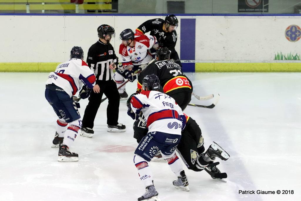 Photo hockey match Nice - Angers
