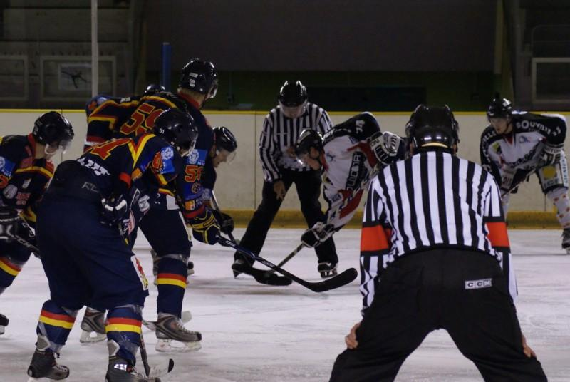 Photo hockey match Nice - Caen