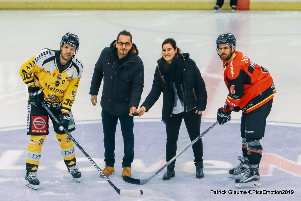 Photo hockey match Nice - Rouen