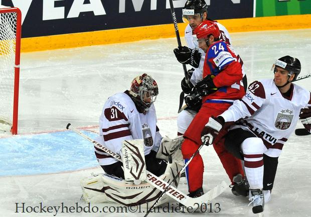 Photo hockey match Russia - Latvia