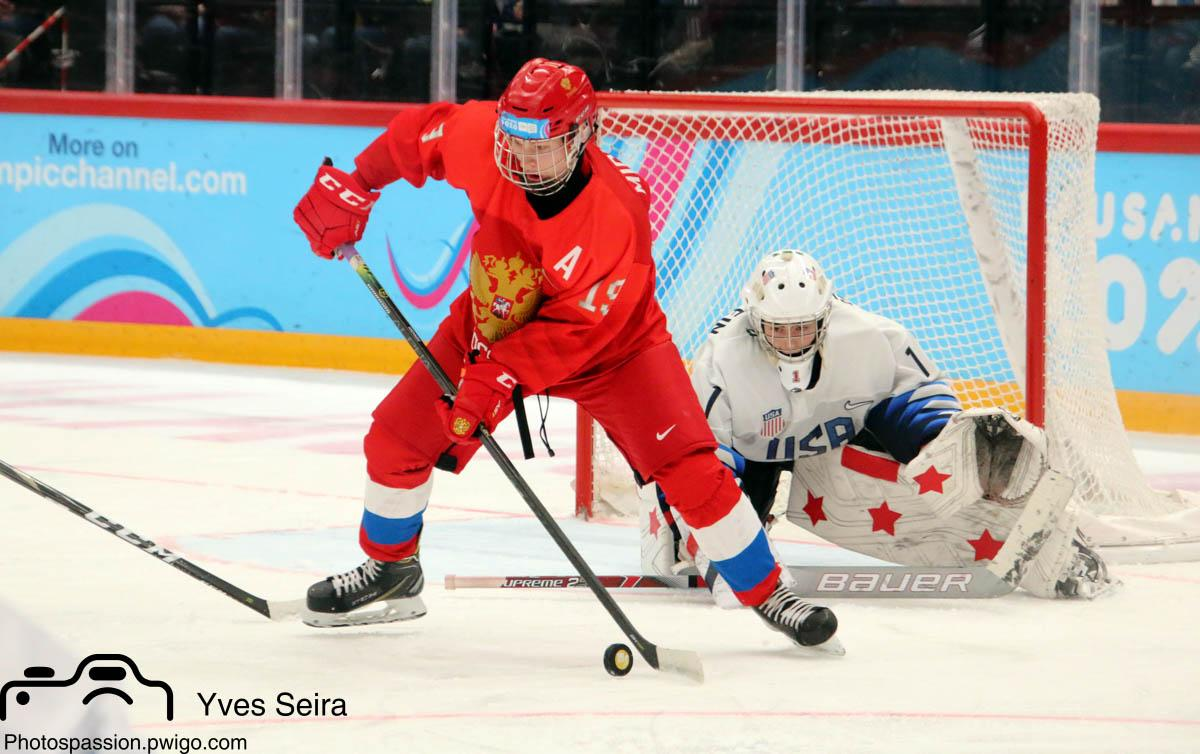 Photo hockey match Russia - United States of America