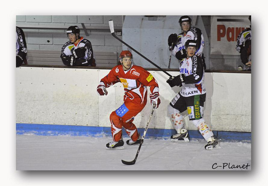 Photo hockey match Valence - Caen