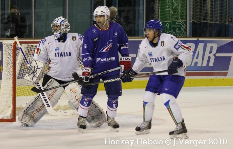 Photo hockey reportage La France confirme face à l'Italie